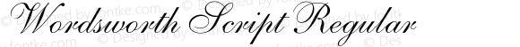 Wordsworth Script Regular