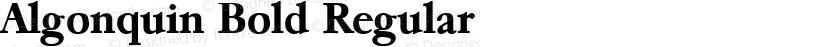 Algonquin Bold Regular Preview Image