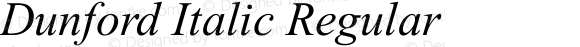 Dunford Italic Regular