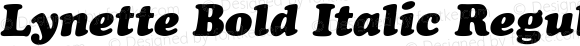 Lynette Bold Italic Regular Unknown
