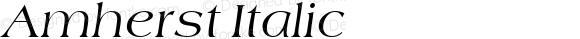 Amherst Italic