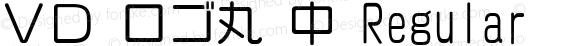 VD ロゴ丸 中 Regular 2.00