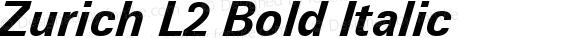 Zurich L2 Bold Italic mfgpctt-v1.86 Feb 20 1996