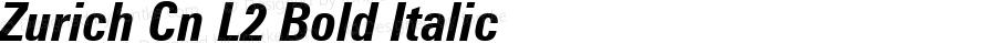 Zurich Cn L2 Bold Italic mfgpctt-v1.86 Feb 20 1996