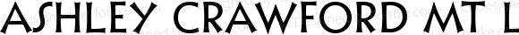 Ashley Crawford MT Light Regular Version 1.0 - FunFonts 3 release - March 8, 1995