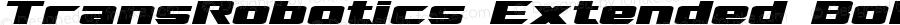 TransRobotics Extended Bold Italic
