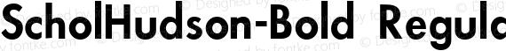 ScholHudson-Bold Regular preview image