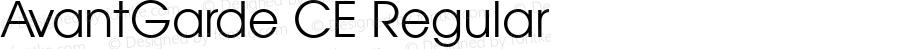 AvantGarde CE Regular 1.000; 02-08-95