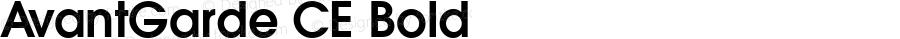 AvantGarde CE Bold 1.000; 02-08-95