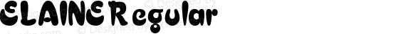 ELAINE Regular Altsys Fontographer 3.5  3/17/97