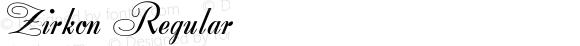 Zirkon Regular Altsys Fontographer 4.0.3 2/8/94