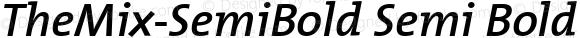 TheMix-SemiBold Semi Bold Version 1.00