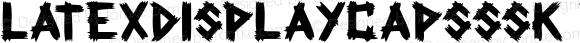 LatexDisplayCapsSSK Regular Macromedia Fontographer 4.1 8/4/95