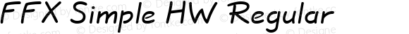 FFX Simple HW Regular 1.0 Wed Feb 05 14:14:19 1997