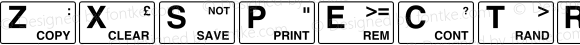 ZXSpectrum Keyboard Macromedia Fontographer 4.1.2 21/3/98