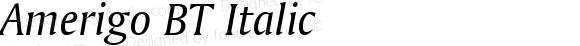 Amerigo BT Italic mfgpctt-v4.4 Jan 4 1999