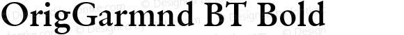 OrigGarmnd BT Bold mfgpctt-v4.4 Dec 22 1998