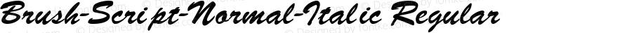Brush-Script-Normal-Italic Regular Converted from F:\BRUSH.TF1 by ALLTYPE