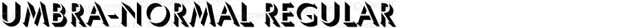Umbra-Normal Regular Converted from D:\POOP\UMBRELLN.TF1 by ALLTYPE