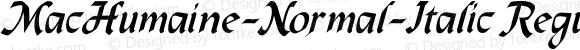 MacHumaine-Normal-Italic