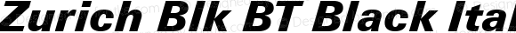 Zurich Blk BT Black Italic mfgpctt-v4.4 Dec 17 1998