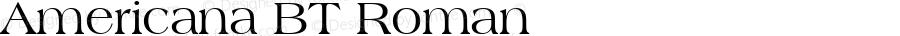 Americana BT Roman mfgpctt-v4.4 Dec 8 1998