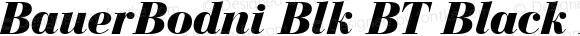 BauerBodni Blk BT Black Italic