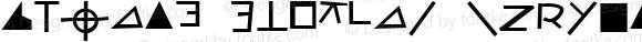 Zodiac Cryptik Regular Macromedia Fontographer 4.1.2 2/6/97