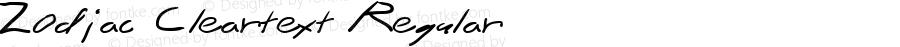 Zodiac Cleartext Regular Macromedia Fontographer 4.1.2 2/6/97