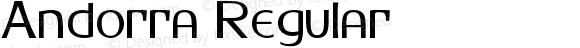 Andorra Regular Altsys Fontographer 3.5  2/8/93