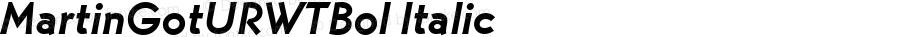 MartinGotURWTBol Italic Version 1.05