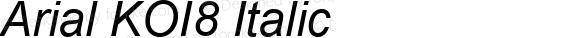 Arial KOI8 Italic Version 2.55