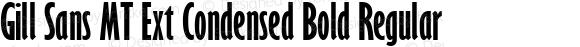 Gill Sans MT Ext Condensed Bold Regular