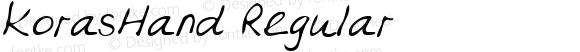 KorasHand Regular Copyright (c)1996 Expert Software, Inc.