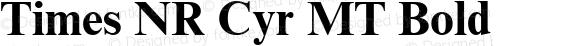 Times NR Cyr MT Bold Version 1.0 - October 1992