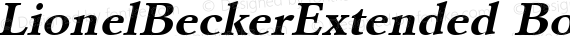 LionelBeckerExtended Bold Italic preview image