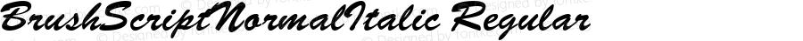 BrushScriptNormalItalic Regular Macromedia Fontographer 4.1.3 30.12.1998