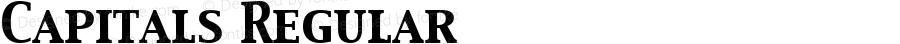 Capitals Regular Macromedia Fontographer 4.1.5 4/9/99
