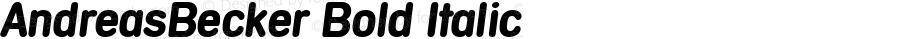 AndreasBecker Bold Italic 001.000