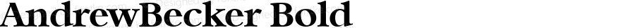 AndrewBecker Bold 001.000