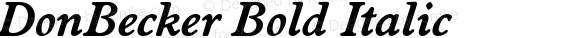 DonBecker Bold Italic preview image