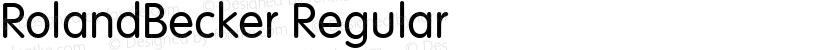 RolandBecker Regular Preview Image