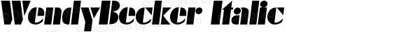 WendyBecker Italic