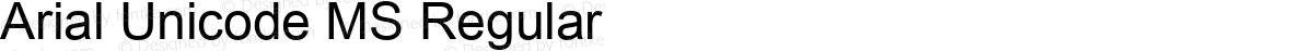 Arial Unicode MS Regular