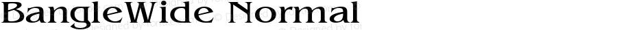 BangleWide Normal Altsys Fontographer 4.1 10/31/95