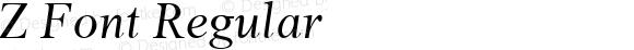Z Font Regular MS core font:V1.00