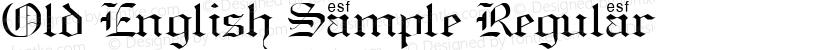 Old English Sample Regular Preview Image