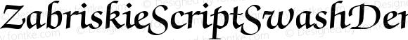 ZabriskieScriptSwashDemi DB Regular 1.0 Mon Nov 06 11:00:43 1995