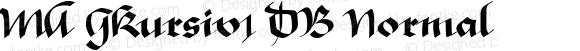 MA GKursiv1 DB Normal 1.0 Tue Oct 01 10:41:49 1996