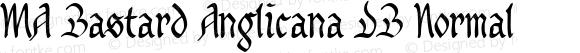MA Bastard Anglicana DB Normal 1.0 Wed Apr 02 10:44:33 1997